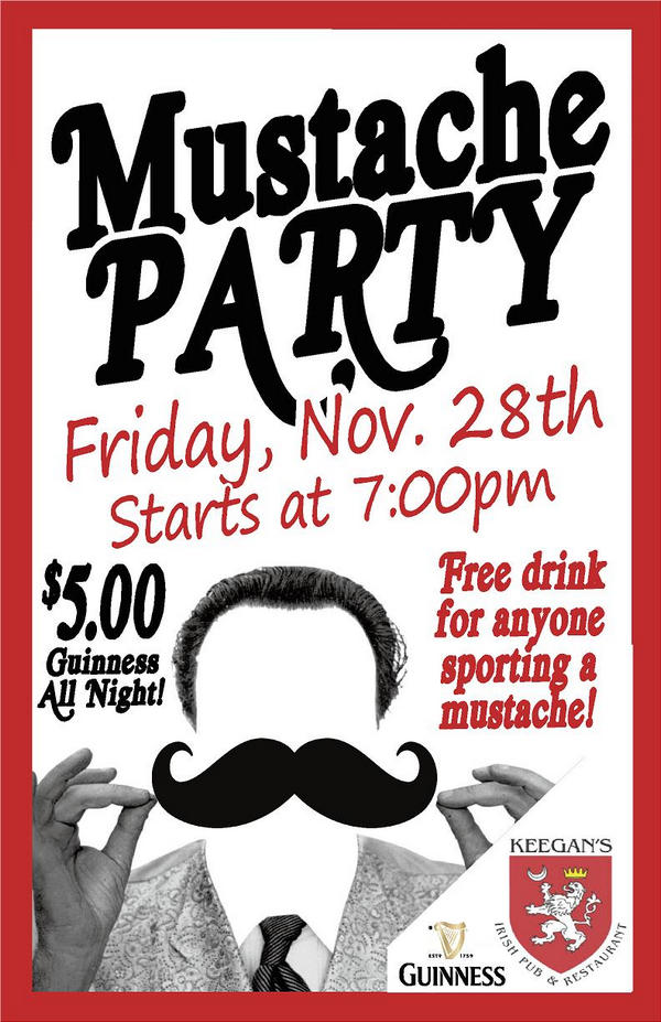 Wrap up Mowvember with our annual Mustache Party!